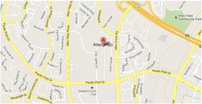 Map for Scott English Plumbing experts in Aliso Viejo