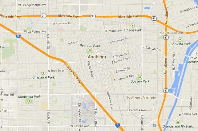 Anaheim Map