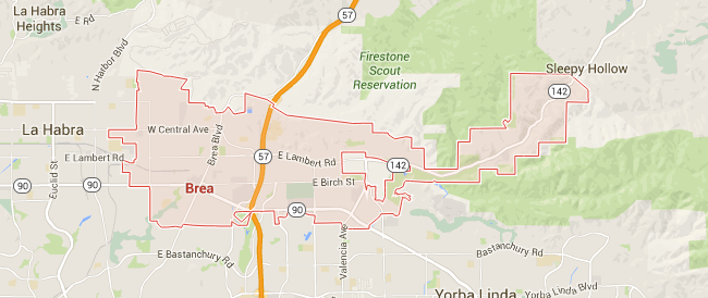 Map for Scott English Plumbing experts in Brea
