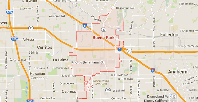 Map for Scott English Plumbing experts in Buena Park