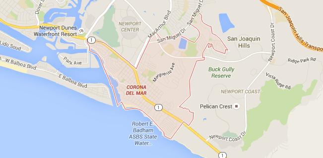 Map for Scott English Plumbing experts in Corona del Mar