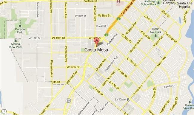Map for Scott English Plumbing experts in Costa Mesa