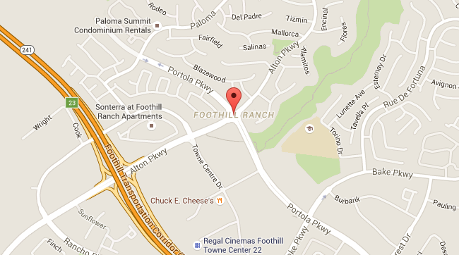 Map for Scott English Plumbing experts in Foothill Ranch