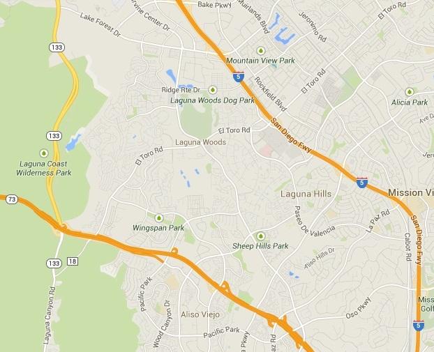 Map for Scott English Plumbing experts in Laguna Hills