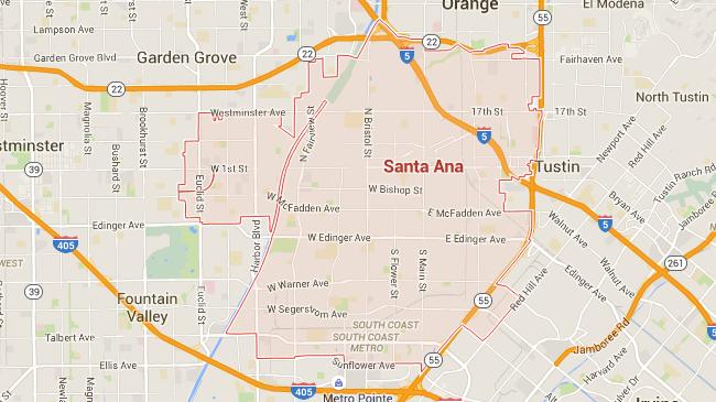 Map for Scott English Plumbing experts in Santa Ana