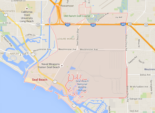 Map for Scott English Plumbing experts in Seal Beach