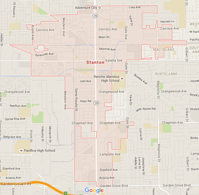 Map for Scott English Plumbing experts in Stanton