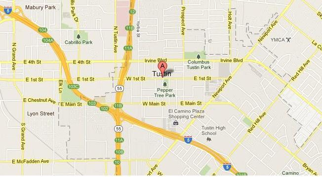 Map for Scott English Plumbing experts in Tustin