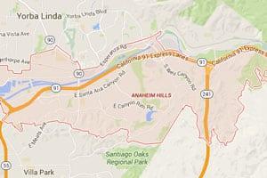 Anaheim Hills geo-tagged map
