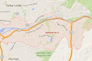 Anaheim Hills plumbing geo-tagged map