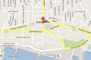 Dana Point plumbing geo-tagged map