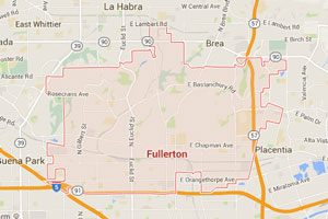 Fullerton map geo-tagged image