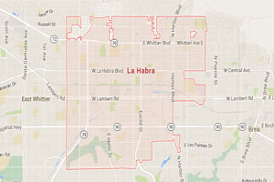 La Habra map geo-tagged image