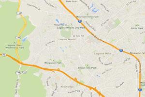 Laguna Hills plumbing geo-tagged map