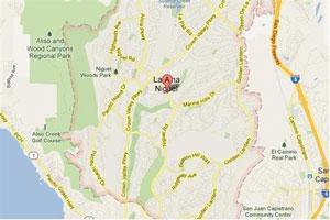Laguna Niguel map geo-tagged image