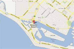Newport Beach plumbing geo-tagged map