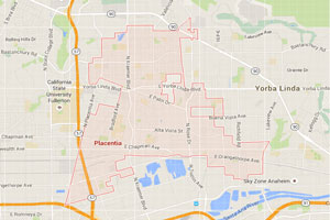 Placentia map geo-tagged image
