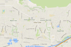 Yorba LInda geo-tagged map image
