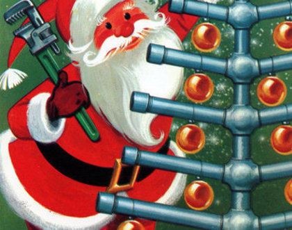 DIY Plumbing: Holiday Plumbing, Santa and Pipe tree